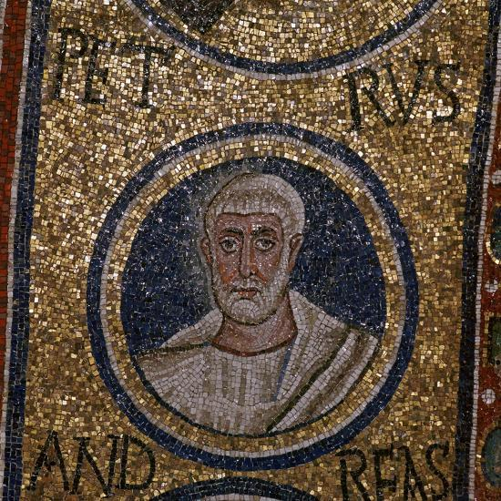 Mosaic detail showing St Peter, 5th century. Artist: Unknown-Unknown-Giclee Print