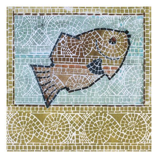 Mosaic Fish-Susan Gillette-Premium Giclee Print