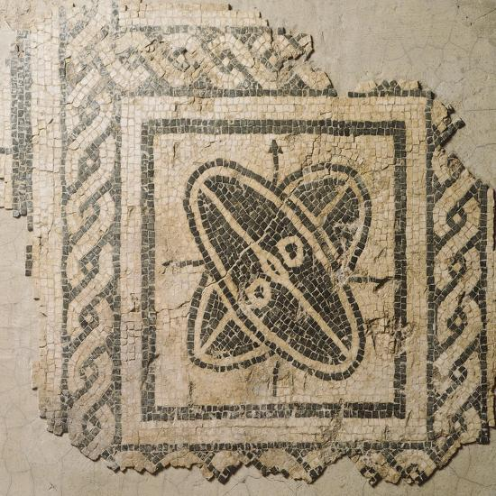 Mosaic Floor from Palace of King Barbaro in Porto Torres--Giclee Print