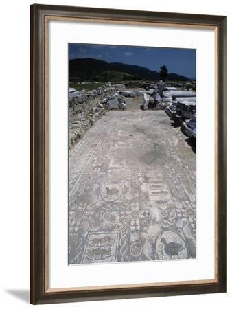 Mosaic Floor in the Basilica of Amphipolis, Greece--Framed Giclee Print