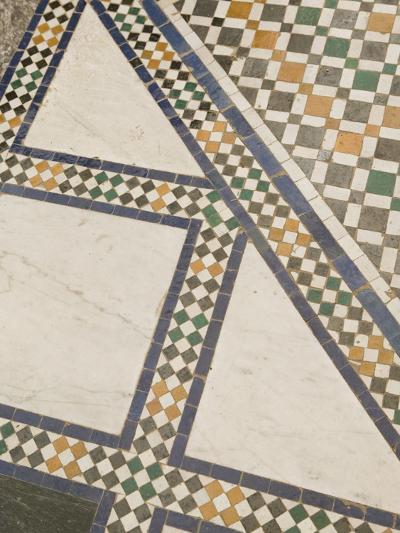 Mosaic Floor, Musee De Marrakech, Marrakech, Morocco-Walter Bibikow-Photographic Print