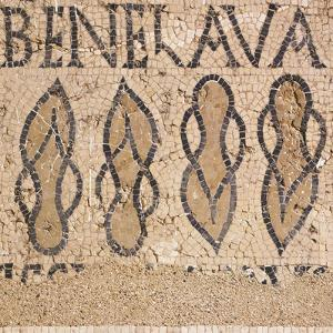 Mosaic from Villa's Entry Way Depicting Sandals and Words Bene Lava