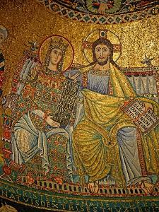 Mosaic in the Apse with Christ and the Virgin Mary