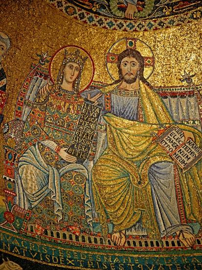 Mosaic in the Apse with Christ and the Virgin Mary--Giclee Print