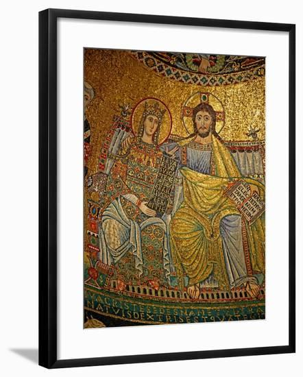 Mosaic in the Apse with Christ and the Virgin Mary--Framed Giclee Print