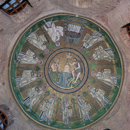 Mosaic in the dome of the Bapistry of the Arians, 5th century. Artist: Unknown-Unknown-Giclee Print