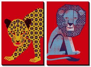 Mosaic Leopard and Petite Roi