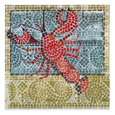 Mosaic Lobster-Susan Gillette-Premium Giclee Print