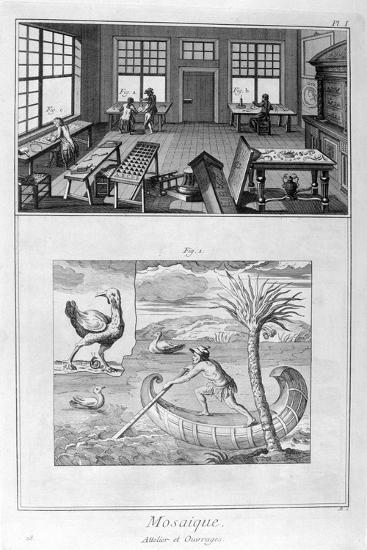 Mosaic Makers, 1751-1777--Giclee Print