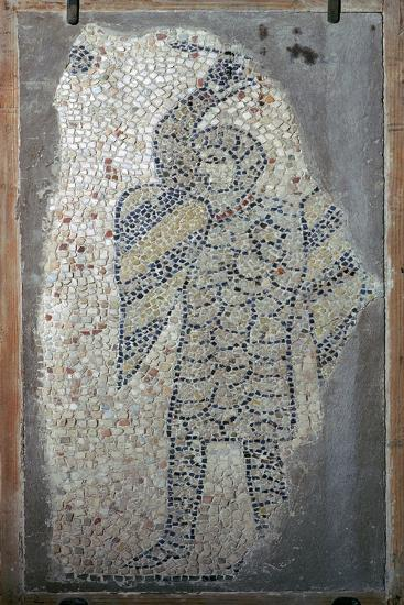 Mosaic of a crusader from the fourth Crusade, 13th century. Artist: Unknown-Unknown-Giclee Print