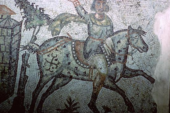 Mosaic of a Vandal on horseback, 5th century. Artist: Unknown-Unknown-Photographic Print