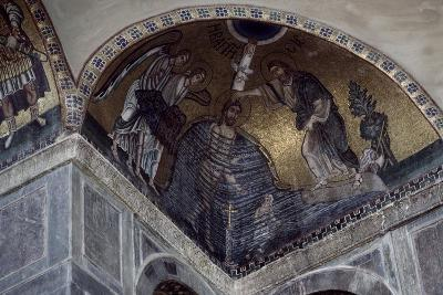 Mosaic of Baptism of Christ in Hosios Loukas Monastery, Greece, Founded in Early 10th Century--Giclee Print
