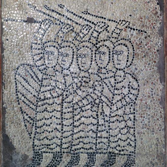 Mosaic of Frankish soldiers of the fourth crusade, 13th century. Artist: Unknown-Unknown-Giclee Print