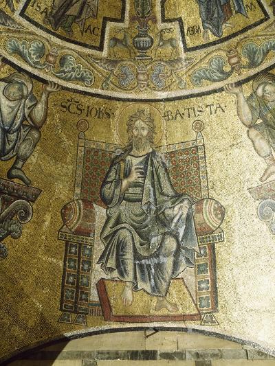 Mosaic of St John Baptist, 13th-14th Century, Vault of Apse, Baptistery of San Giovanni Battista--Giclee Print