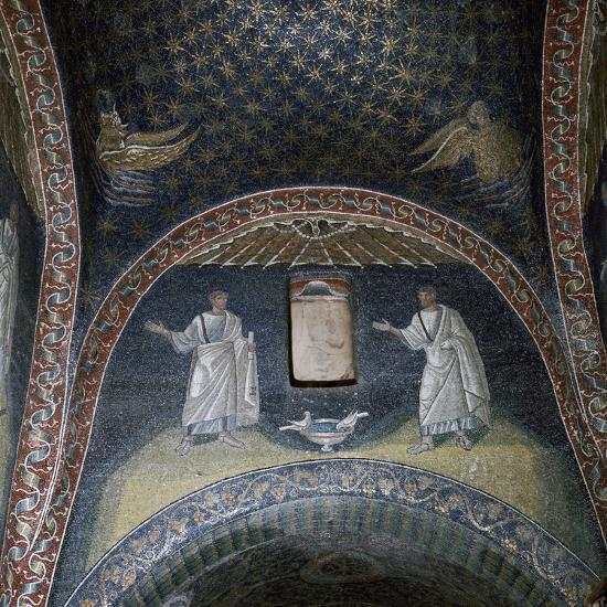 Mosaic of St Paul and St Peter in the Mausoleum of Galla Placidia, 5th century-Unknown-Giclee Print