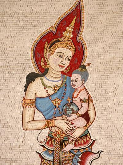 Mosaic of Thai Virgin, Annunciation Basilica, Nazareth, Galilee, Israel, Middle East-Godong-Photographic Print