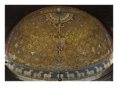 Mosaic of the Apsidal Conch. Triumph of the Cross--Giclee Print
