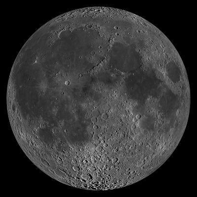 Mosaic of the Lunar Nearside-Stocktrek Images-Photographic Print