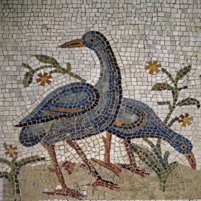 Mosaic of Water Birds Uncovered in Trier, Germany--Giclee Print
