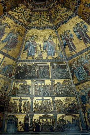 Mosaic on the Domed Ceiling of St John's Baptistry, Florence--Giclee Print