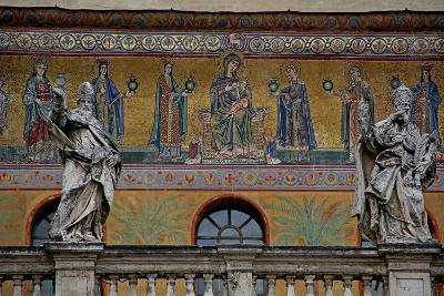 Mosaic on the Façade of St Maria in Trastevere: the Virgin and Child and Women Holding Lamps--Giclee Print