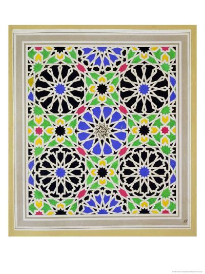 Mosaic Pavement in the Dressing Room of Sultana, Alhambra, from the Arabian Antiquities of Spain-James Cavanagh Murphy-Giclee Print
