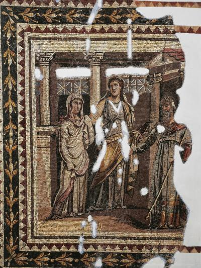 Mosaic Portraying Iphigenia at Aulis, from Antioch, Turkey--Giclee Print