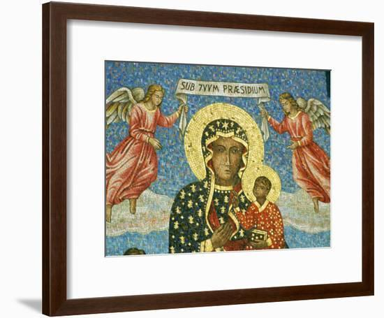 Mosaic Rendering of the Famous Black Madonna of Czestochowa Icon-Martin Gray-Framed Photographic Print