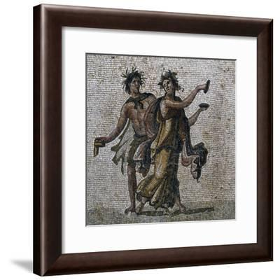 Mosaic Showing Dancing Bacchi, from Samandag--Framed Giclee Print