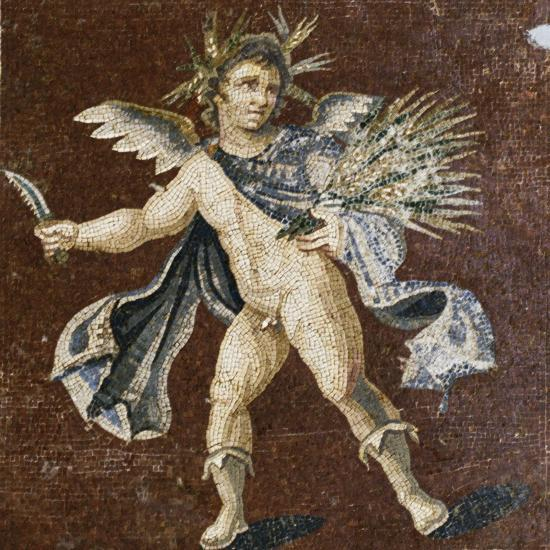 Mosaic Showing Putto, Mosaic of Four Seasons, from Harbiye--Giclee Print