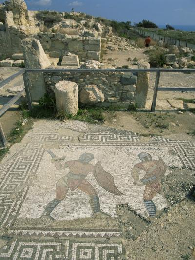 Mosaic, the House of Gladiators, Kourion, Cyprus, Europe-Jeremy Bright-Photographic Print