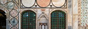 Mosaic tiles on wall of a mosque, El-Jazzar Mosque, Acre (Akko), Israel
