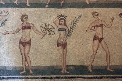 Mosaic, Villa Romana Del Casale, Piazza Armerina, UNESCO World Heritage Site, Sicily, Italy, Europe-Vincenzo Lombardo-Photographic Print