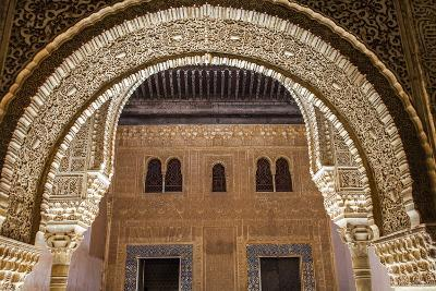 Mosaic Walls at the Alhambra Palace, Granada, Andalusia, Spain-Carlos Sanchez Pereyra-Photographic Print