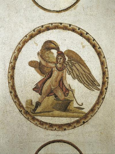 Mosaic Work Depicting Ganymede Kidnapped by Zeus--Giclee Print