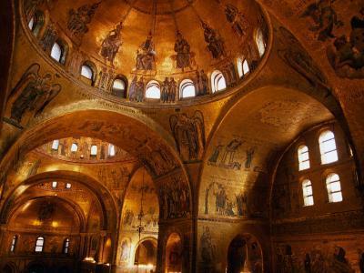 Mosaics of St. Mark's Basilica, Venice, Veneto, Italy-Roberto Gerometta-Photographic Print
