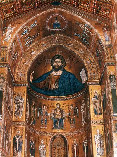 Mosaics on Apse including Christ Pantocrator, 12th century--Photographic Print