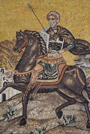 Mosaics on the Wall of St. George's Church, Madaba, Jordan, Middle East-Richard Maschmeyer-Photographic Print