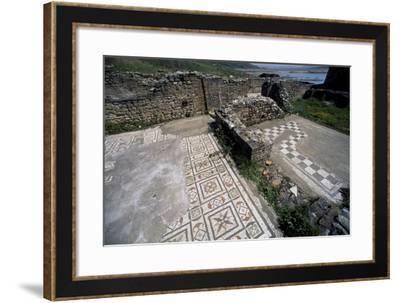 Mosaics, Roman Villa at Contrada Larderia, Roggiano Gravina, Calabria, Italy, Imperial Age--Framed Giclee Print