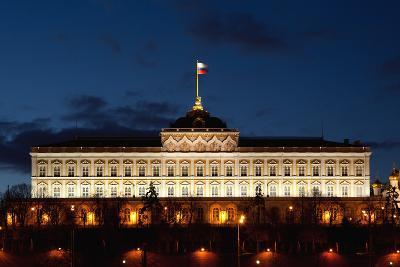 Moscow, Kremlin, Grand Kremlin Palace, at Night-Catharina Lux-Photographic Print