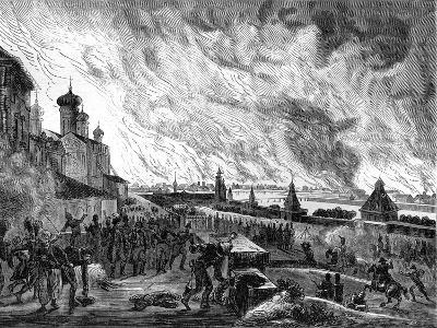 Moscow on Fire, 15th September 1812 (1882-188)-A Etienne-Giclee Print