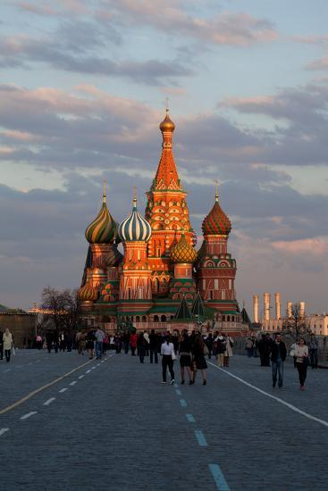 Moscow, Red Square, Saint Basil's Cathedral-Catharina Lux-Photographic Print