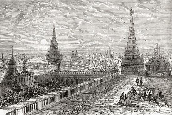 Moscow, Russia in the 19th Century. from the National Encyclopaedia, Published C.1890--Giclee Print