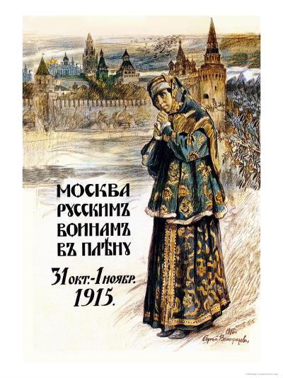 Moscow to the Russian Prisoners of War-Sergei A. Vinogradov-Art Print