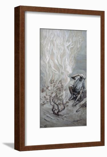 Moses Adores God in the Burning Bush-James Tissot-Framed Giclee Print