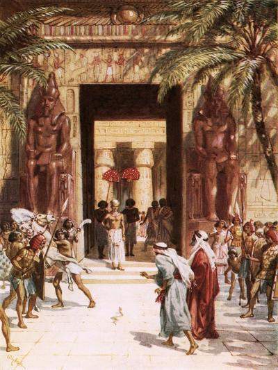 Moses and Aaron before Pharaoh-William Brassey Hole-Giclee Print