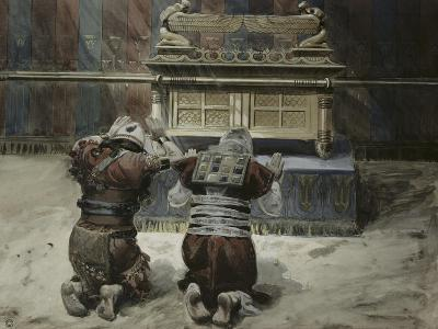 Moses and Joshua in the Tabernacle-James Tissot-Giclee Print
