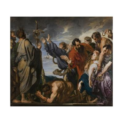 Moses and the Brazen Serpent, 1618-20-Anthony van Dyck-Giclee Print