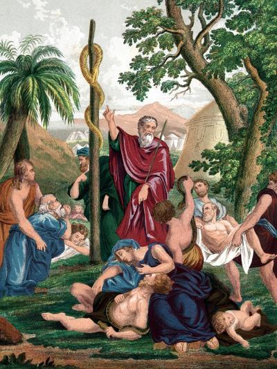 Moses and the Brazen Serpent, C1860--Giclee Print