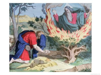 Moses and the Burning Bush, 1860--Giclee Print